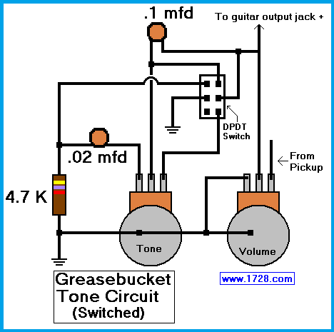 greasebucket tone circuit for guitar rh 1728 org Fender Telecaster TBX Wiring-Diagram Telecaster Texas Special Wiring Diagram